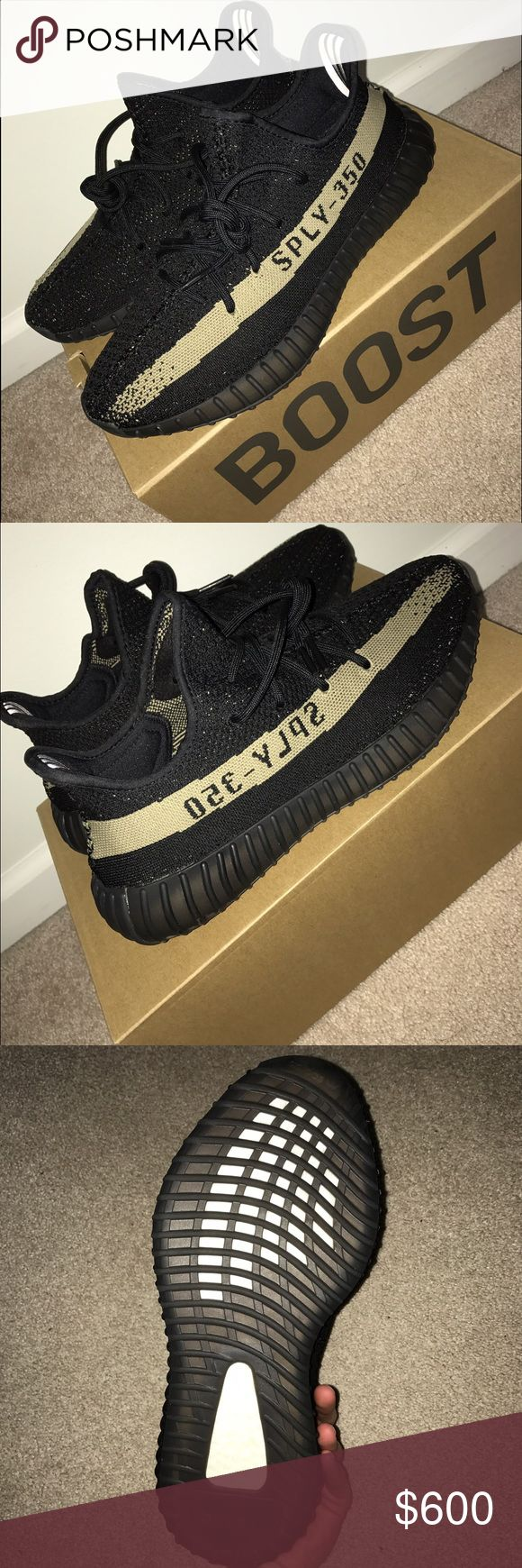 Shop Australia yeezy boost 350 V2 black / green BY9611 Sizing Online