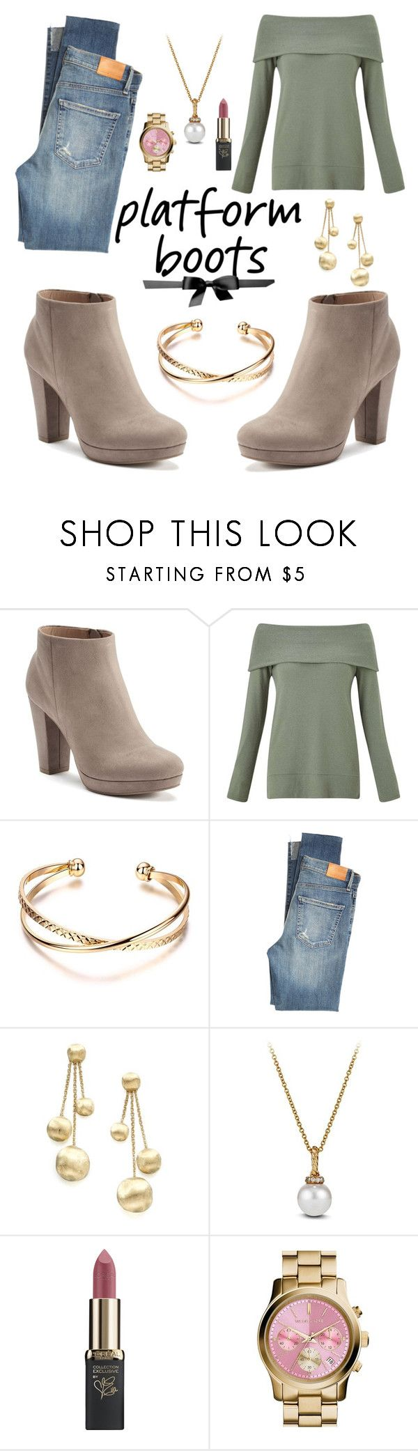 """""""Platform Boot"""" by csidlo17 ❤ liked on Polyvore featuring LC Lauren Conrad, Miss Selfridge, Citizens of Humanity, Marco Bicego, David Yurman, L'Oréal Paris and MICHAEL Michael Kors"""