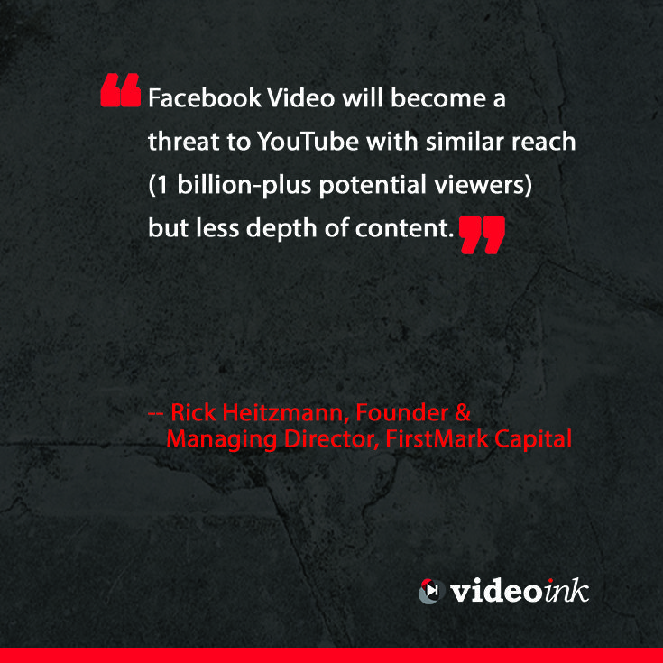 As video continues to grow, more social media sites are launching their own video players, if you didn't think there would be competition for YouTube this year your opinion might change. Read more about the experts had to predict about digital media. http://www.thevideoink.com/features/special-issue/2015-predictions-industry/#.VLaJBSekQsc #quotes #digitalmedia #online #creators #onine #videoplayer #YouTube #Facebook
