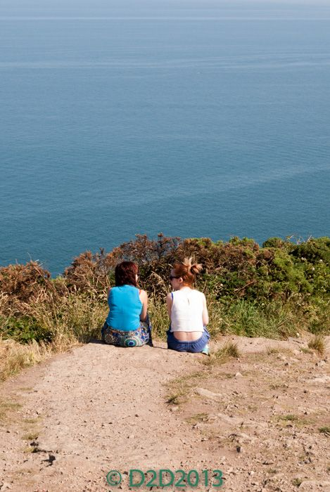 Enjoying the View from Howth Summit Dublin