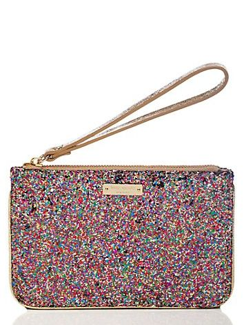 kate spade sparkler bee wristlet (matches those earrings of hers)!