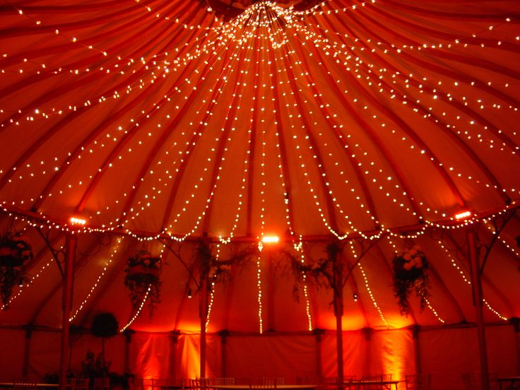 Our Grand Pavilion with fairy lighting available to hire from us.