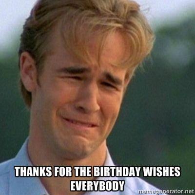 funny happy birthday meme Dawson