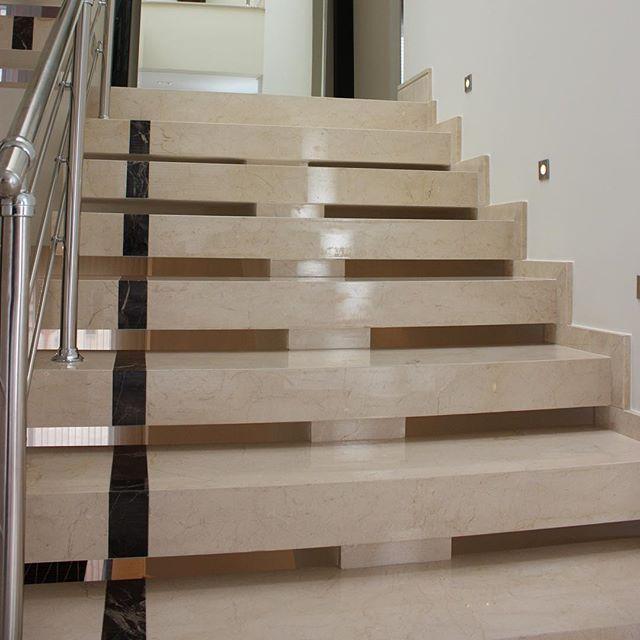Photo by grupobrasven moderna y elegante escalera en crema marfil pulido escalera - Baldosas para escaleras ...