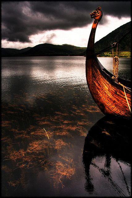 Vikings employed wooden longships with wide, shallow-draft hulls, allowing navigation in rough seas or in shallow river waters. (They came out of the mist on an icy wind, and froze the blood of weaker men.)