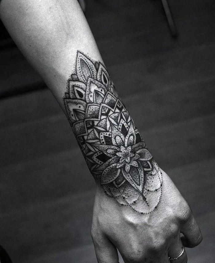 Unterarm mandala tattoo frau Mandala Tattoo