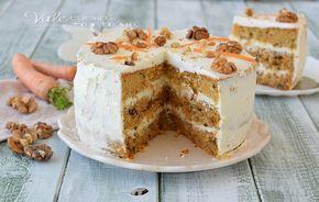CARROT CAKE torta alle carote ricetta originale americana , con carote e noci , un dolce alto morbido e con crema al formaggio philadelphia