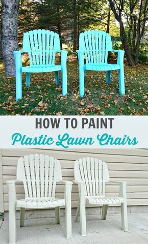 How to Spray Paint Plastic Lawn Chairs // Tips + Tricks and What Paint to Use // by @danslelakehouse