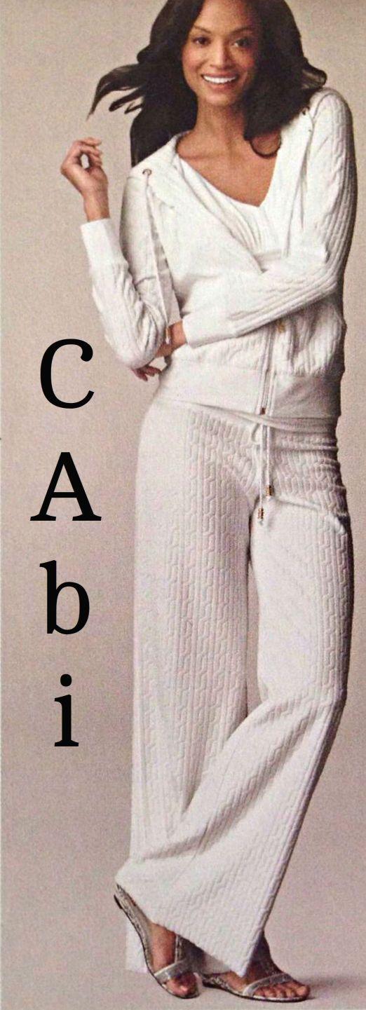 CAbi White Miami Zip Hoodie
