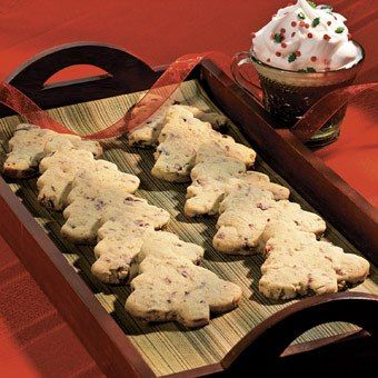 Cran-Pistachio Christmas Tree Cookies - Holiday Cottage
