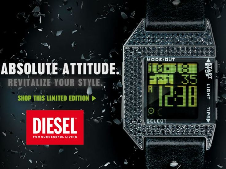 Νεανικά και μοντέρνα ρολόγια DIESEL!!!! Δείτε όλη τη συλλογή ρολογιών DIESEL μόνο στο OROLOI.GR! http://www.oroloi.gr/index.php?cPath=603