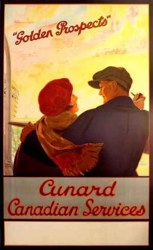 Canada Golden Prospects Cunard, 1930s - original vintage poster listed on AntikBar.co.uk
