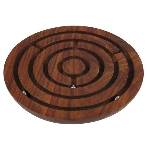 Wooden Labyrinth Board Game Ball in Maze Puzzle Handcrafted in India ShalinIndia http://www.amazon.com/dp/B007YYJ03I/ref=cm_sw_r_pi_dp_ewKJvb0KNPPBK