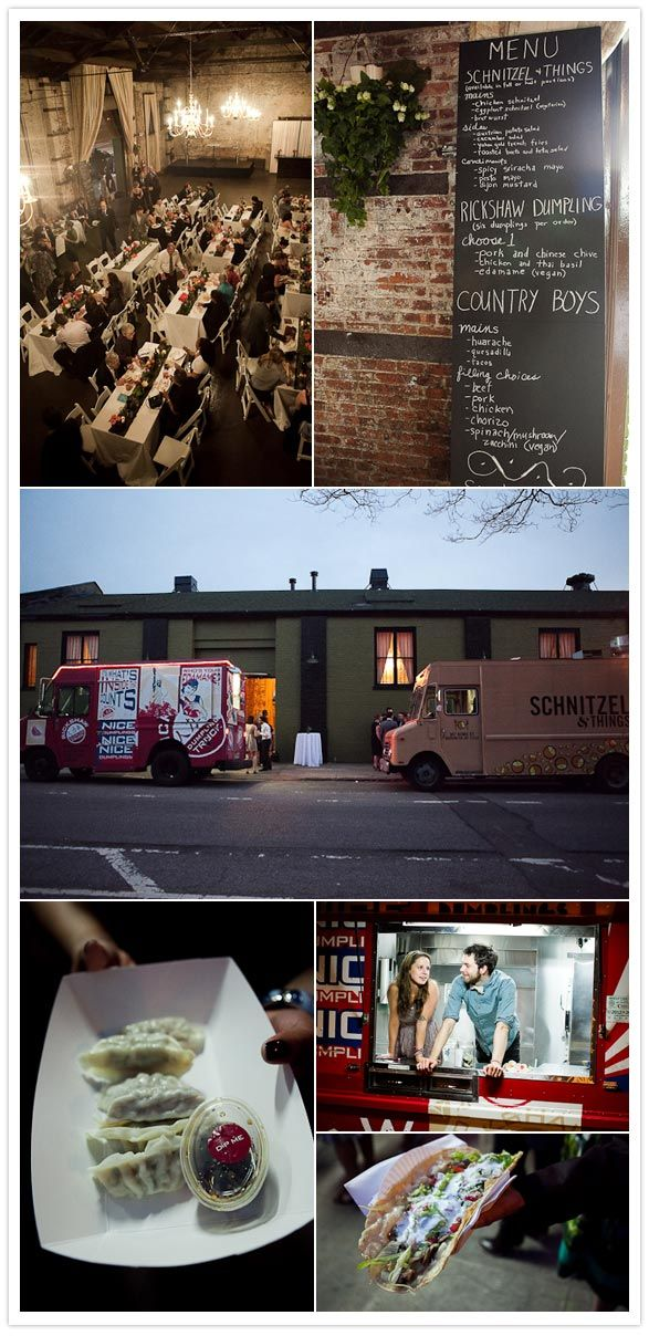 Food Trucks at a wedding - great idea and bonus points for a creativity and being budget-friendly. Way to think outside of the box!