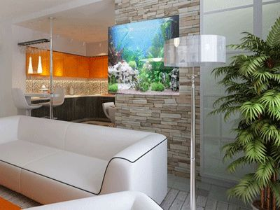 17 best images about wohnzimmerideen on pinterest modern for Fish tank fireplace