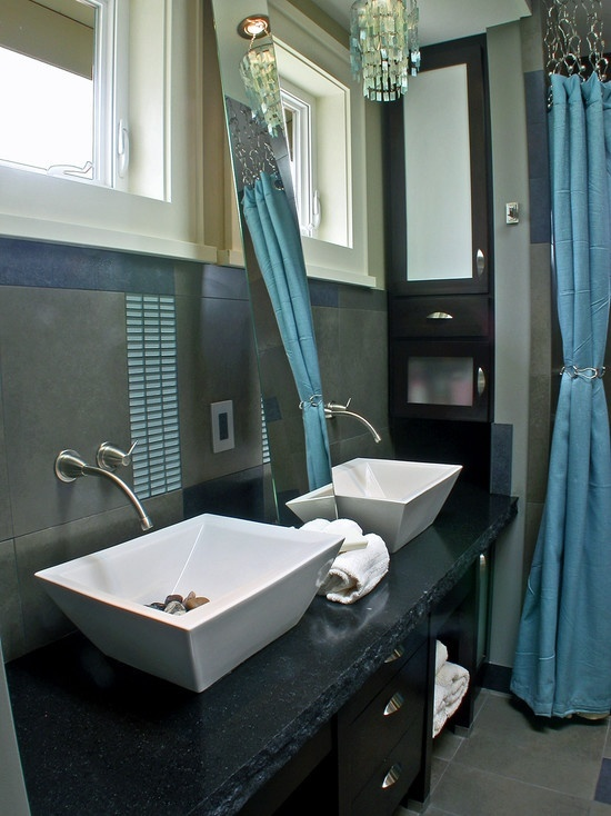 Grey and teal bathroom bathrooms pinterest teal for Teal and white bathroom ideas