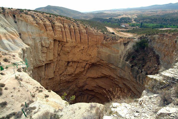 Le paysage Karstique à Teruel.