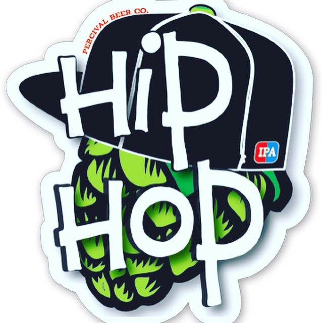 Awesome die cut sticker for The Hip Hop IPA