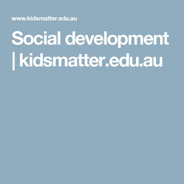 Social development | kidsmatter.edu.au