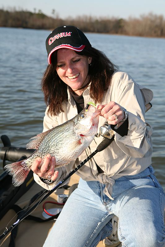 450 best images about beautiful ladies fishing on pinterest for Crappie fishing secrets