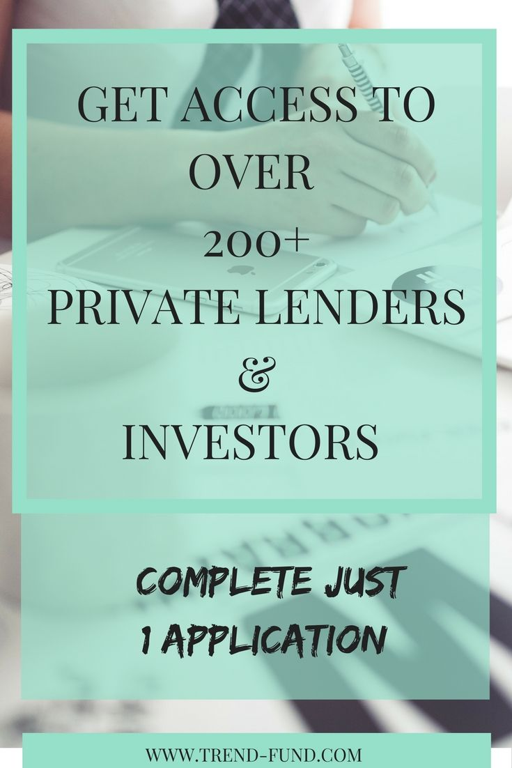 Bank Loan applications are hard. Complete just 1 application and get access to over 200 plus private lenders and investors!