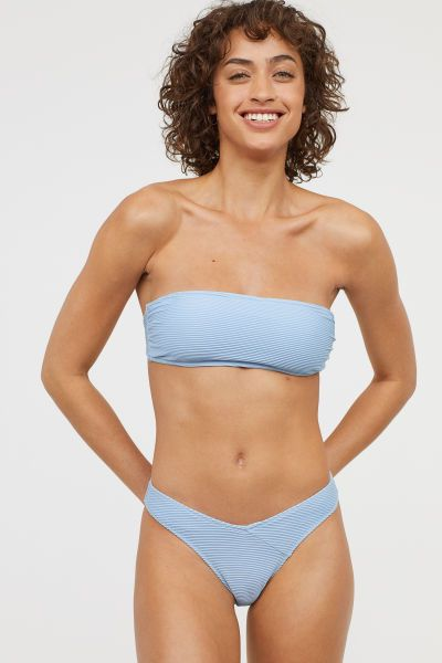 44c0c25663 V-cut Bikini Bottoms | Light blue | Women | H&M US | swimmers ...
