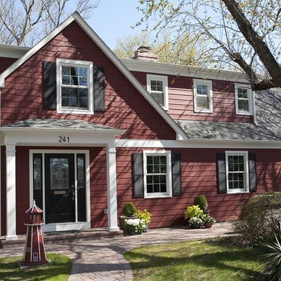 "Traditional Exterior ""red siding"" Design Ideas, Pictures, Remodel and Decor"