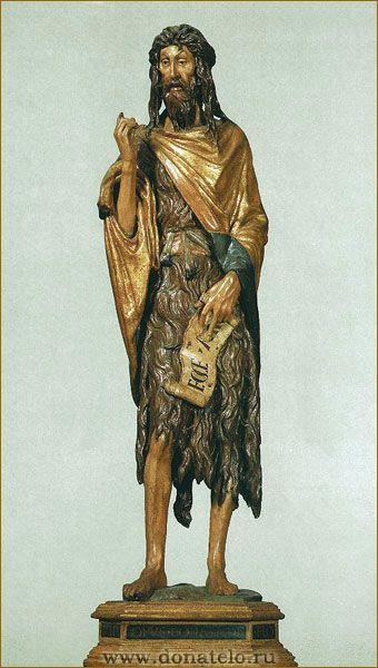 Деревянная статуя Иоанна Крестителя. Скульптор Донателло / www.donatelo.ru Дерево. 1438. Донателло. Церковь Санта Мария Глориоза деи Фрари, Венеция.