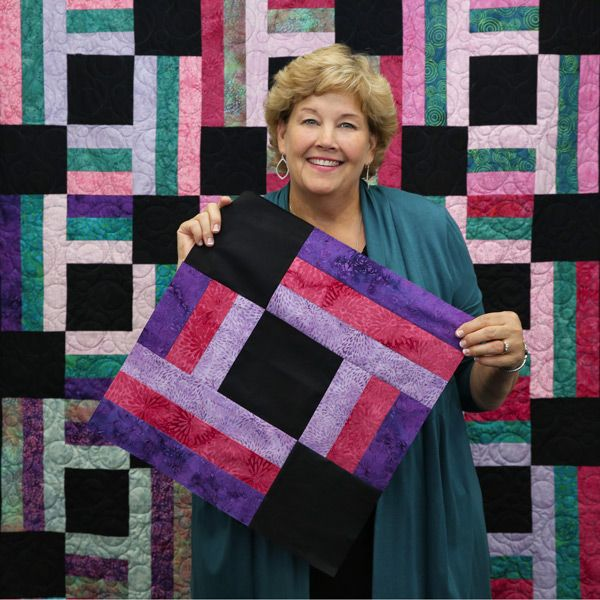 "Jenny shows a great way to make this Town Square Quilt by using 18"" Blocks!"