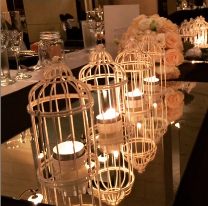 Bridal Table Set with Birdcage Centrepiece