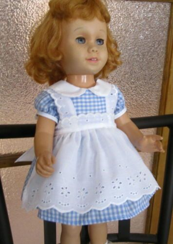 Blue-Gingham-Party-Dress-with-White-Eyelet-Apron-Pinafore-for-Chatty-Cathy