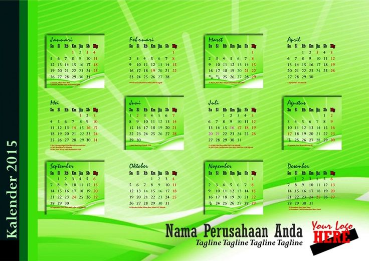 Kalender 2015 Indonesia - Design_20_Edge