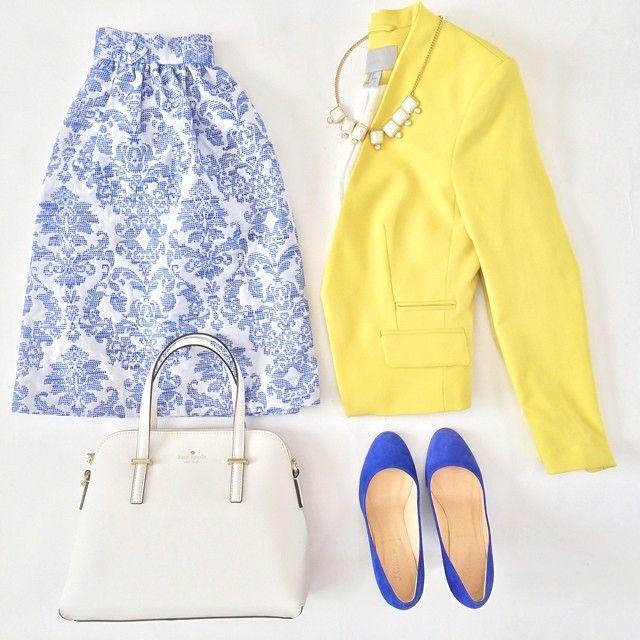mrandmrs2015:  {blue and yellow} #ootd #wiw // #liketkit www.liketk.it/2mi4 @liketkit by stylishpetite