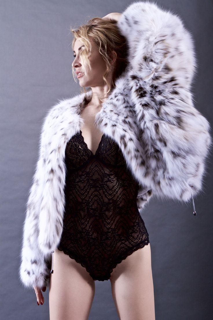White lynx fur jacket price
