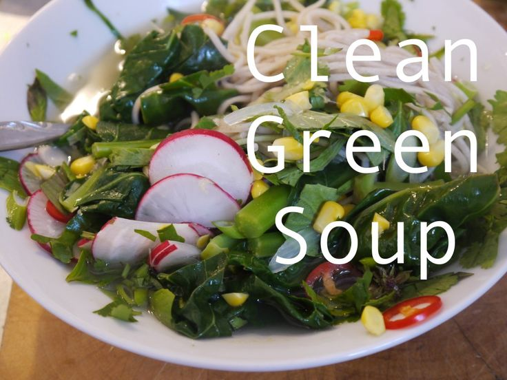 Clean green soup - a vegetable soup for those times when you are feeling a little worse for wear because you have been eating lots of meat and boozing quite considerably...
