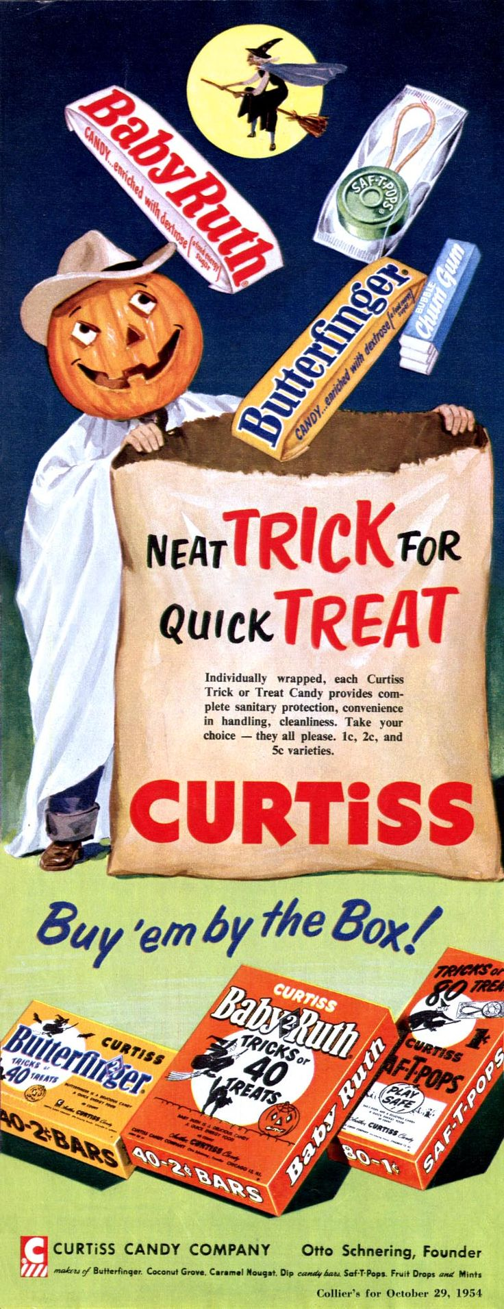 Image result for vintage halloween candy ads