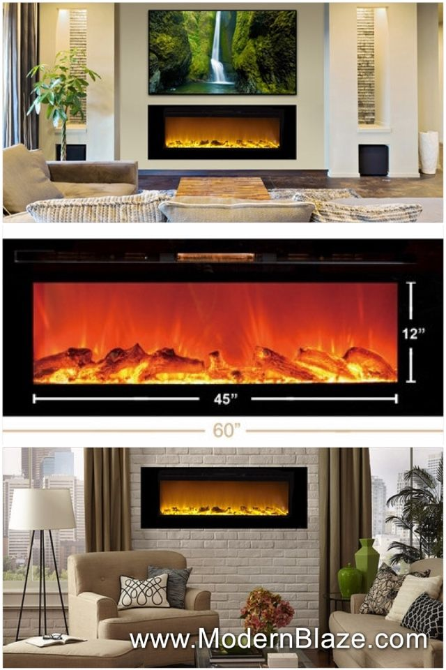 Touchstone The Sideline 60 Quot Recessed Electric Fireplace