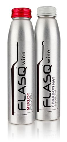FLASQ™ wines are Great Wines. Grown in great California regions, harvested at peak times and blended with the highest care.  They are 100% American-made and bottled in eco-friendly, easy-to-handle, easy-to-chill aluminum bottles.  FLASQ™ wines are half bottles that conveniently serve two full glasses of wine. Package design, PD