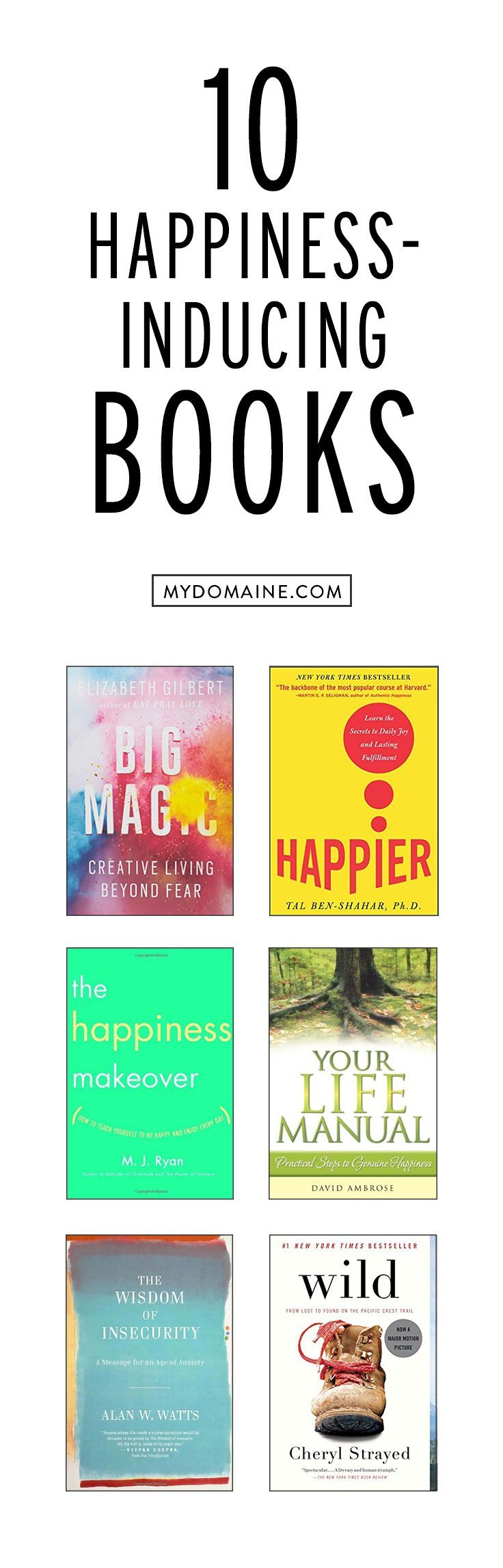 10 Happiness Inducing Books | My Domaine