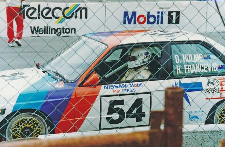 1991 Nissan-Mobil 500 Touring Car Series Wellington NZ. Denis Hulme was partnered with Robbie Francevic and drove the BMW E30 M3 into 4th place.