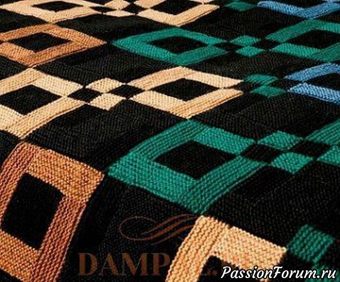 """Описание вязания покрывала переведено из журнала Журнал """"Creative Knitting"""""""