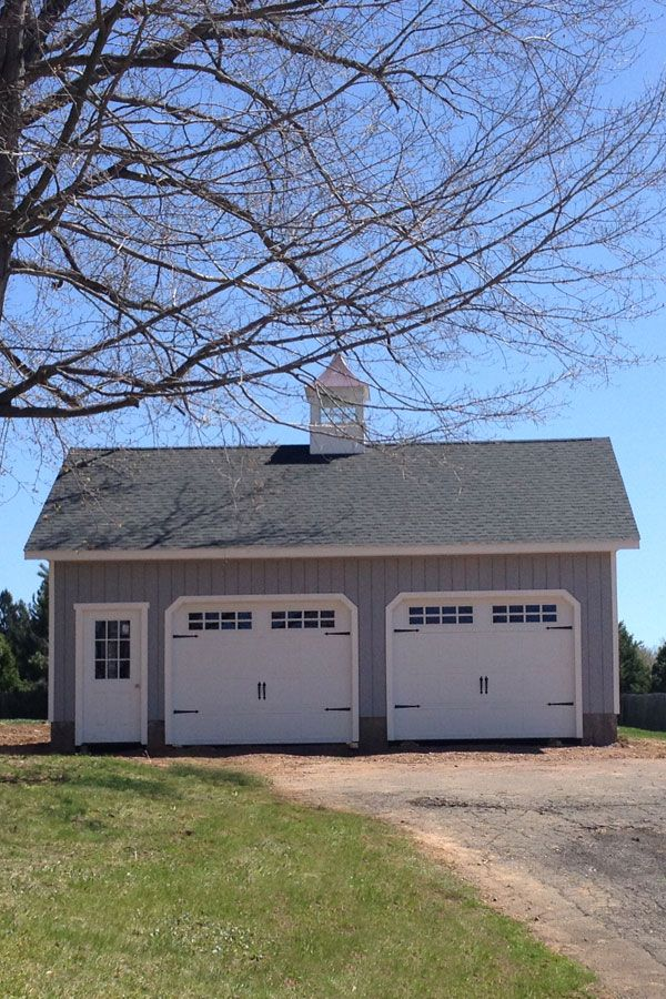This 24 X 30 2 Car Elite Garage Features A Full Second
