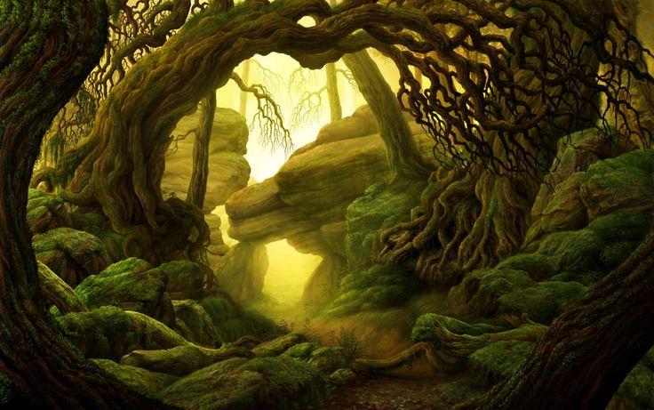Fall Woodland Creatures Wallpaper Marco Ferrara Artist Illustrator Concept Art Forest
