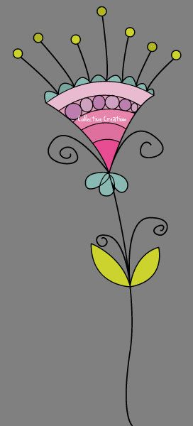 Doodle Flowers Digital Clipart Set Perfect by CollectiveCreation More