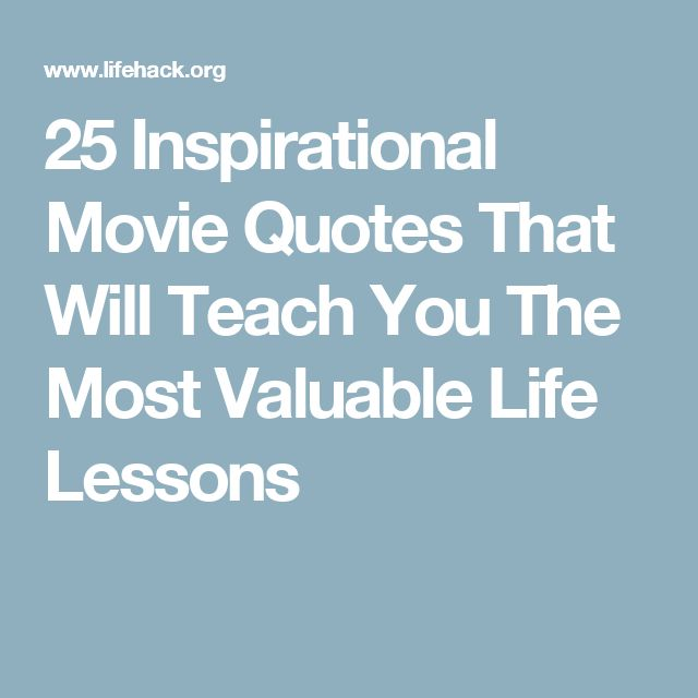 Movie Quotes About Life: Best 25+ Inspirational Movie Quotes Ideas On Pinterest