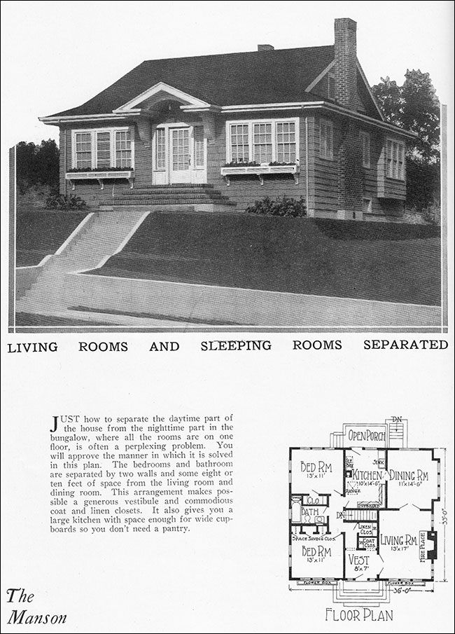 1000 images about authentic house plans on pinterest for 1925 bungalow floor plan