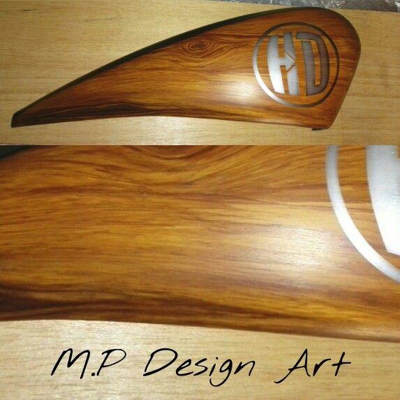 Airbrush effect wood