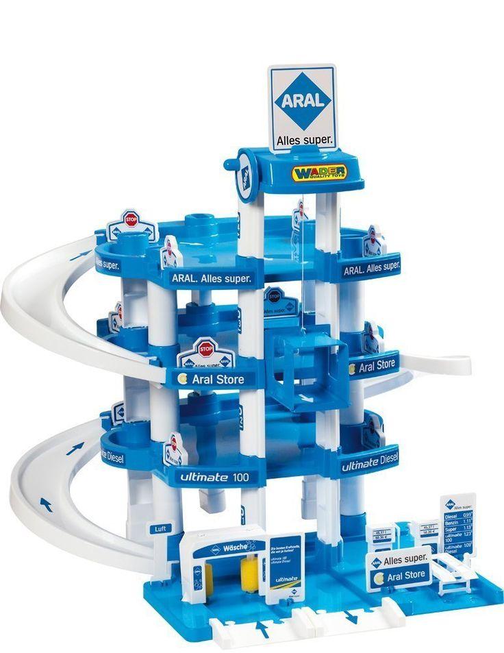 Wader 10220 - Parkgarage Aral mit 4 Ebenen und Zubehör: Amazon.de: Spielzeug