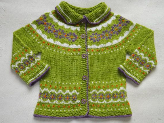 Knit baby jacket Baby girls jacket Easter gift by TriinasHandmade