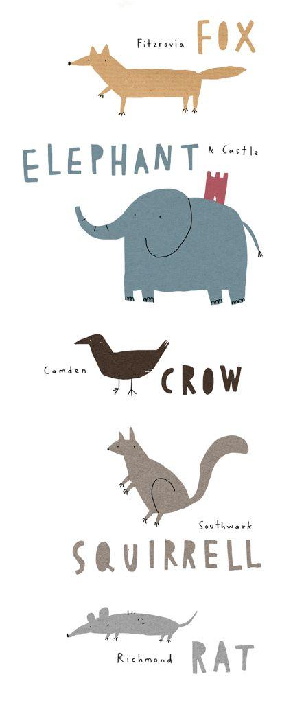 london animals zoo abc mercedes leon illustration
